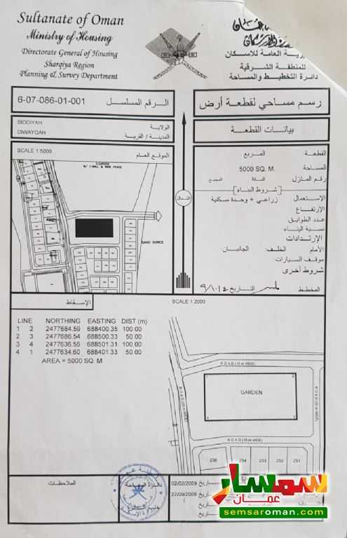 Ad Photo: Farm 5000 sqm in Ash Sharqiyah