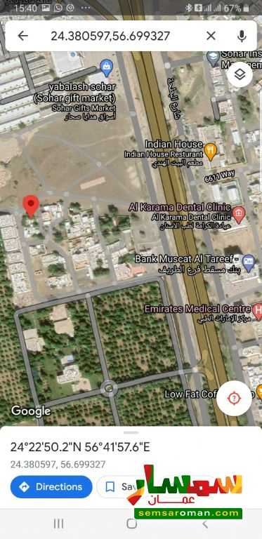 Ad Photo: Land 611 sqm in Sohar  Al Batinah