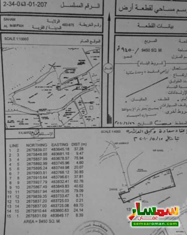 Ad Photo: Farm 9450 sqm in Al Batinah